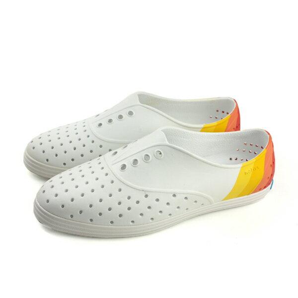 nativeJERICHOBLOCK洞洞鞋休閒鞋白色女鞋11300402-9225no796