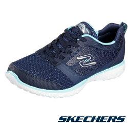 【SKECHERS 促銷6折】SKECHERS  跑步系列 MICROBURST Walking 藍 女休閒鞋運動鞋健走鞋 - 23306NVTQ