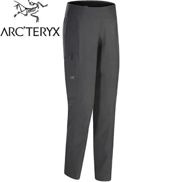 Arcteryx始祖鳥Sabria軟殼褲排汗長褲登山褲休閒褲透氣抗風耐磨18916女款威爾斯灰