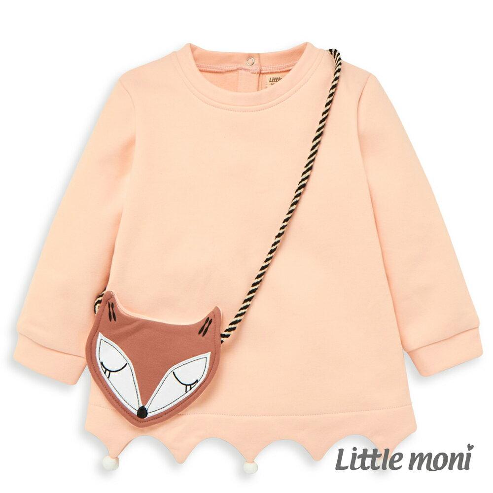 Little moni 狐狸造型上衣-粉紅(好窩生活節) 0