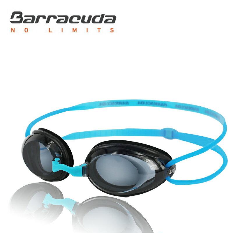 美國巴洛酷達Barracuda成人近視泳鏡-#2195---藍色頭帶組
