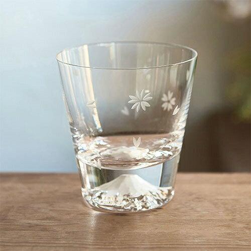 田島硝子/ 富士山威士忌酒杯 櫻花