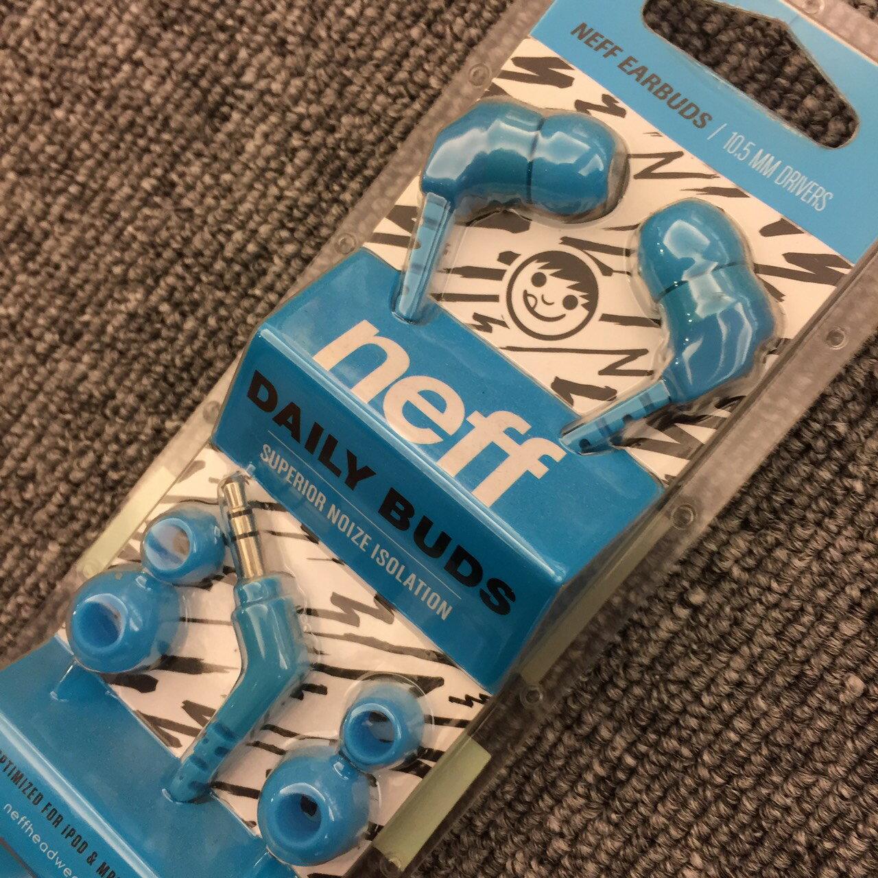 BEETLE PLUS 西門町經銷 全新 美國品牌 NEFF DAILY BUDS EARBUDS BLACK 耳機 耳塞式 藍色 3.5MM IPHONE EB-05 1