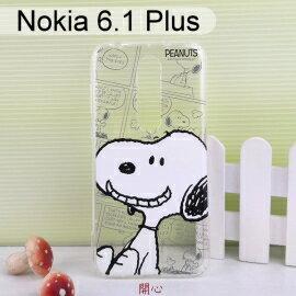SNOOPY空壓氣墊軟殼Nokia6.1Plus(5.8吋)史努比【正版授權】