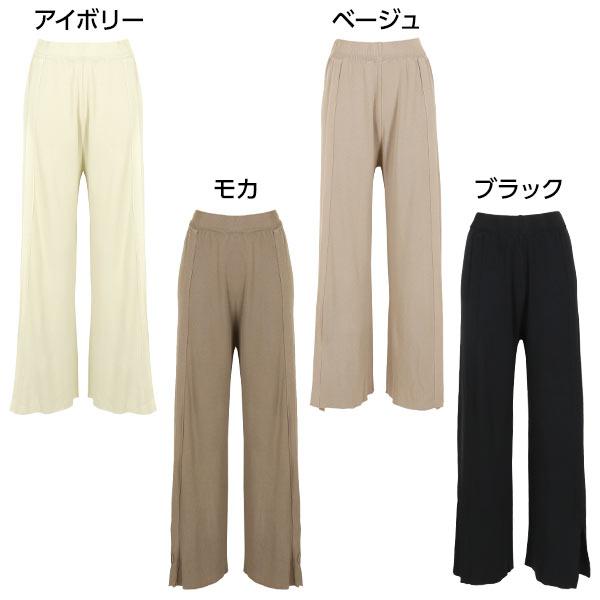 日本Kobe lettuce /  夏季親膚針織落地開衩長褲  / -m2518-日本必買 日本樂天直送(2990) 1