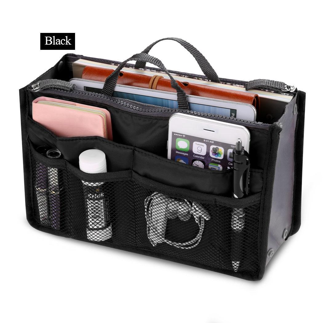 Travel Cosmetic Makeup Insert Pouch Toiletry Handbag Storage Purse 2