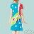 【Milida,全店七折免運】-夏季尾聲-拼貼款-古典人物插畫洋裝 3