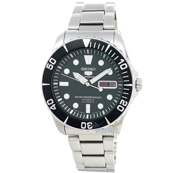 SEIKO精工表SNZF17J1日本製自動機械錶黑面夜光男錶【錶飾精品】