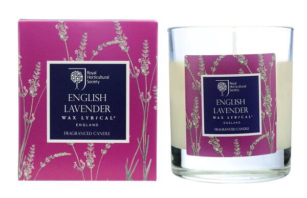 英國WaxLyrical玻璃蠟燭禮盒-英倫薰衣草(可燃42小時)