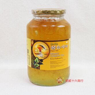 【0216零食會社】韓國柚子蜜茶1000g(玻璃罐裝)