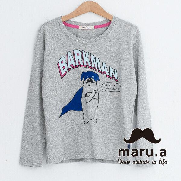 【mini maru.a】童裝親子款蒙面鬍子狗狗長袖T-shirt 7351219 1