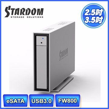 STARDOM i310-WBS3(6G) 3.5吋/2.5吋USB3.0/eSATA/FW800 1bay 硬碟外接盒(和順電通) [天天3C]