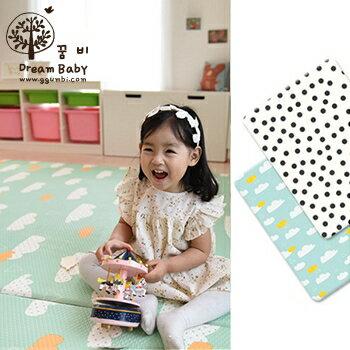 小烏龜精品童裝店:100%安全無毒材質DreamB雙面兒童遊戲地墊-雲朵點點