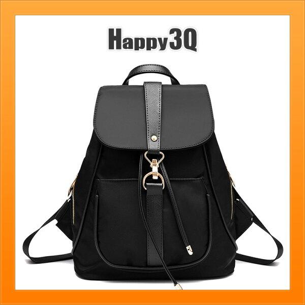 雙肩包後背包素色包單色包學生包旅行包外出包時尚百搭-藍黑紫【AAA3881】