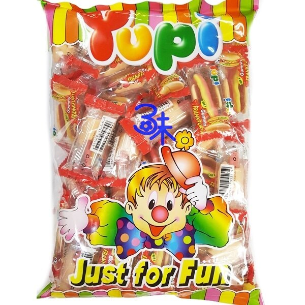 (印尼 ) Yupi  呦皮熱狗軟糖 1包 486 公克 (75個) 特價 123 元 【8992741979603】(呦皮 大熱狗QQ軟糖 萬聖節 聖誕節必備QQ糖)