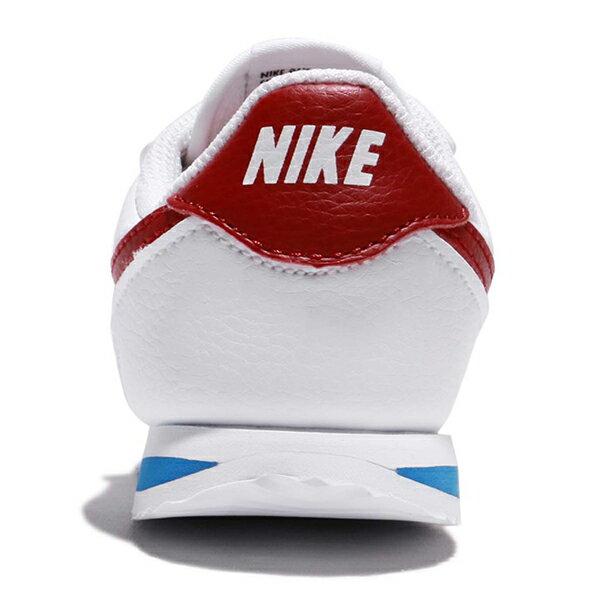 Shoestw【904769-103】NIKE CORTEZ BASIC TDV 阿甘鞋 皮革 黏帶 白紅藍 小童鞋 2