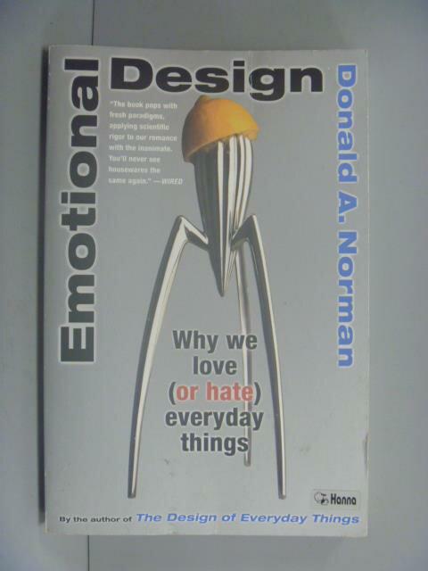 ~書寶 書T1/ _GDX~Emotional Design: Why We Love ^