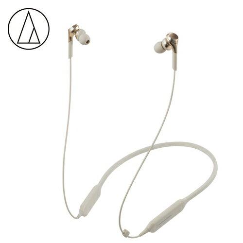 【audio-technica鐵三角】ATH-CKS770XBT頸掛式藍牙耳機金檳色【三井3C】