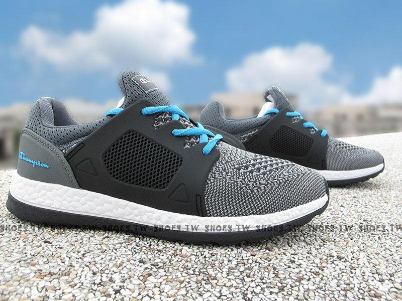 《限時特價799元》Shoestw【732220122】Champion 休閒鞋 ATHLETIC 灰黑水藍 襪套 網布 女生 0