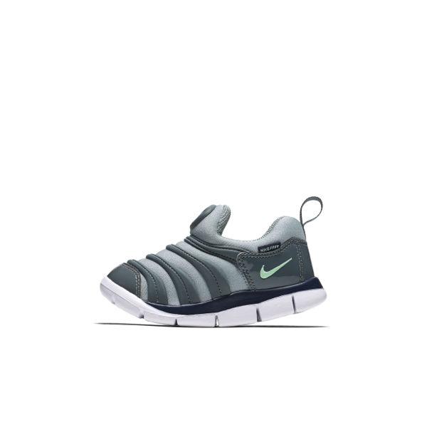 Nike DYNAMO FREE TD 毛毛蟲鞋 童鞋 小童 嬰兒 灰 綠 【運動世界】 343938-006