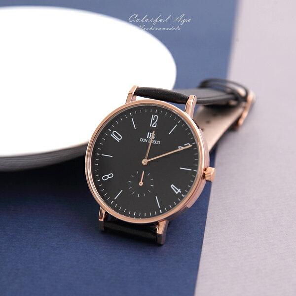手錶 DON BOSCO仿秒盤皮錶【NEK27】