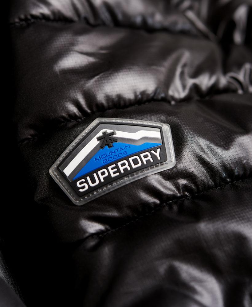 [男款]英國代購 極度乾燥 superdry Fuji 男士保暖 雙拉鍊漆皮休閒雪地加厚夾克外套 黑色 5