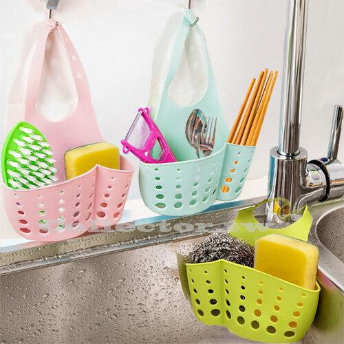 【N15112501】可調節按扣式水槽收納掛籃 廚房多用途置物架 水龍頭海綿瀝水籃