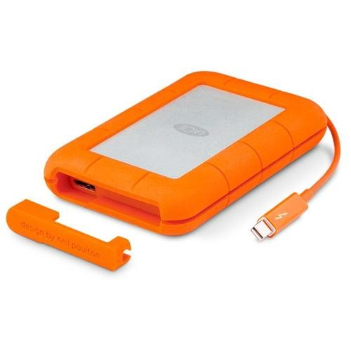 LaCie Rugged Thunderbolt All-Terrain Storage 500GB SSD w/ Integrated Thunderbolt Cable (9000491) 0