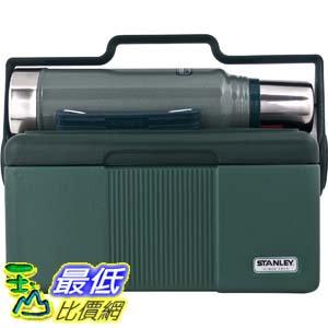 [106美國直購] Stanley 10-01026-005 綠色 可提式保溫冰桶+保冰瓶 7QT Heritage Cooler with Classic 1.1QT Vacuum Bottle