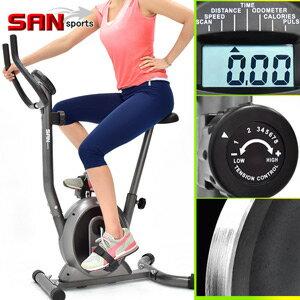 【SAN SPORTS 山司伯特】經典立式磁控健身車(室內腳踏車自行車.飛輪車飛輪式美腿機.運動健身器材.推薦哪裡買)C149-037