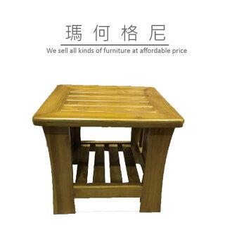 【瑪格何尼】幸運草 柚木 沙發 組椅 小茶几(SF06-812B)