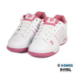 K-SWISS 新竹皇家 Eadall 白/粉色 皮質 馬卡 休閒鞋 女款 NO.I9292