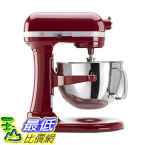 [107美國直購] KitchenAid 攪拌機 KP26M1XER 6 Qt. A1087350 Professional 600 Series Stand Mixer - Empire Red