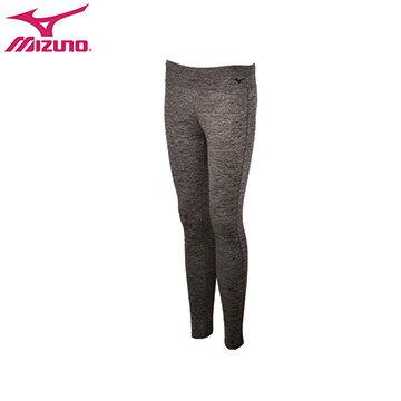 D2TB673609(黑灰)彈性材質、內裡細刷毛 女休閒緊身褲 【美津濃MIZUNO】