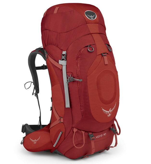 Osprey |美國| XENA 70 登山背包《女款》/重裝背包-寶石紅S/Xena70 【容量66L】