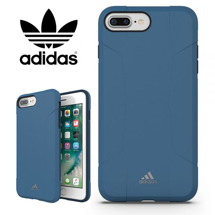adidas Performance Solo 運動鎧甲 5.5吋 iPhone6/6s/7/8 Plus 藍 背蓋/手機套/保護套/手機殼/29587/TIS購物館