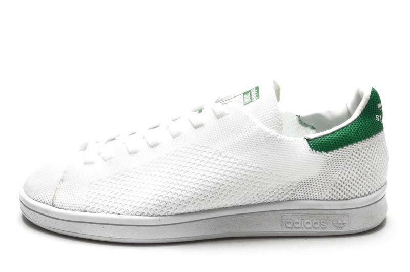 Adidas Stan Smith飛線系列休閒板鞋 白綠 情侶款