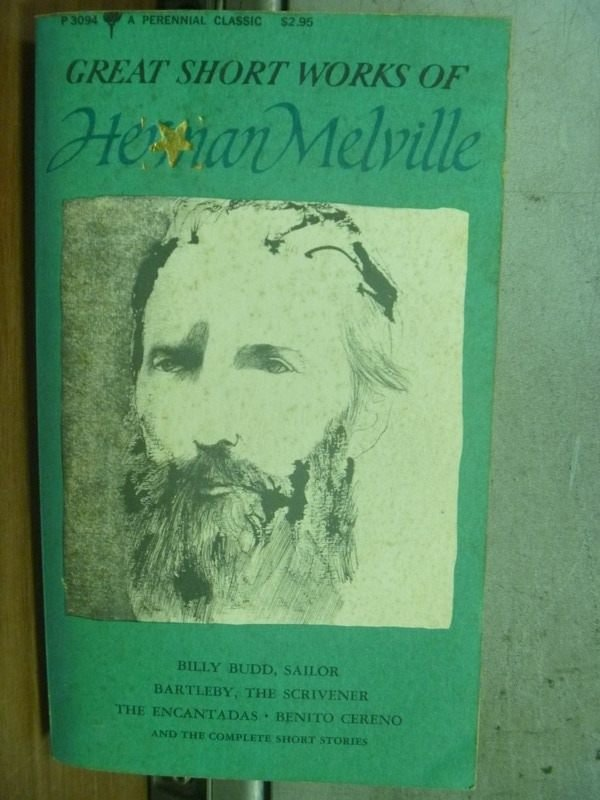 【書寶二手書T6/原文小說_HPM】GREAT SHORT WORKS OF HERMAN MELVILLE_1969