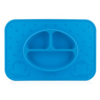 Nuby 矽膠餐盤【悅兒園婦幼生活館】