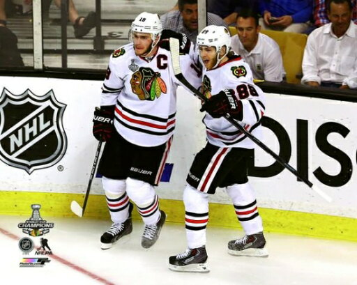 Jonathan Toews & Patrick Kane Game Six of the 2013 NHL Stanley Cup Finals Photo Print (16 x 20) ee02ca85578963213acebefdb9138389