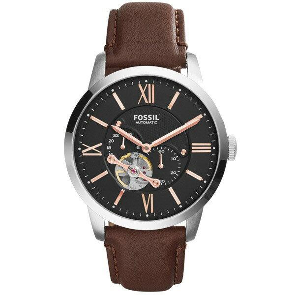 Fossil 城區探索機械錶 腕錶 機械錶 黑 咖啡錶帶 手錶 腕表 ME3061  【Watch-UN】