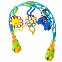 【麗嬰房】Kids II - Oball 洞動歡樂動物嬰兒車/床夾玩具組