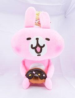 X射線【C573701】卡娜赫拉Kanahei12吋小動物-甜甜圈,絨毛填充玩偶玩具公仔抱枕靠枕娃娃