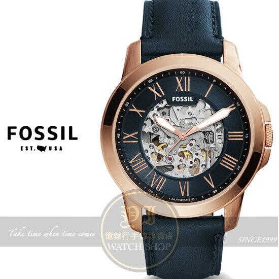 FOSSIL美國品牌AUTOMATIC紳士機械真皮腕錶ME3102原廠公司貨/禮物/時尚