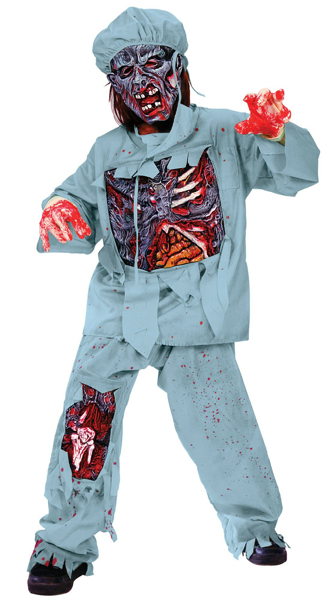 Fun World Boy's Zombie Doctor Child Costume, Large