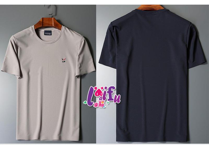 T恤來福,T1男運動衣歐芝短袖上衣冰絲全網洞路跑健身服正品有加大M-4XL,單上衣售價790元