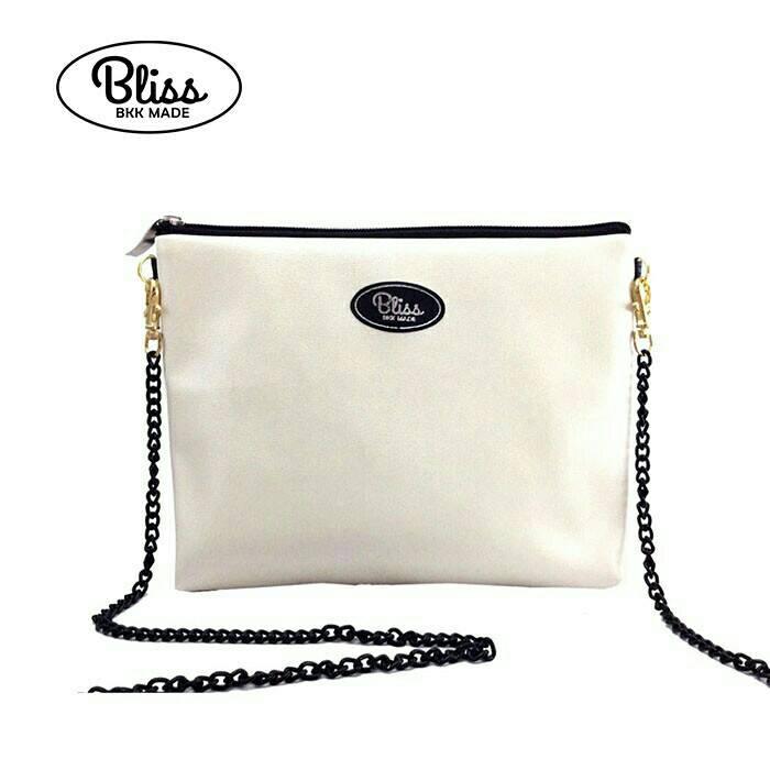 【正版】泰國BLISS BKK包手拿包側背包斜背包-質感素色白  (4款背帶可選) 影片實拍 X RUNWAY FASHION ICON