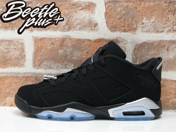 女鞋 BEETLE NIKE AIR JORDAN 6 RETRO LOW BG GS 黑銀 黑白 768881-003 0