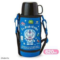 大賀屋 日貨 哆啦A夢 兩用 不鏽鋼水壺 保溫瓶 保溫 保冰 水壺 不鏽鋼 小叮噹 Doraemon 正版 L00010877