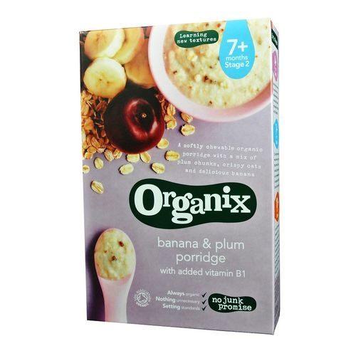 英國Organix歐佳有機全穀鮮果麥精-香蕉黑棗7m+